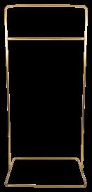 Square Base Hanging Frame - Brass