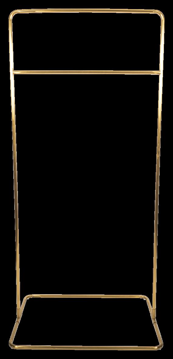 Square Base Hanging Frame – Brass