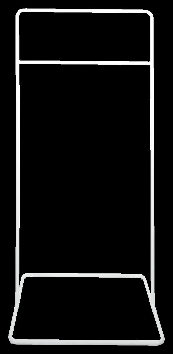 Square Base Hanging Frame – White