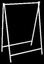 A-Frame Hanging Frame – White