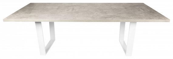 Dining Table – Concrete with White Leg