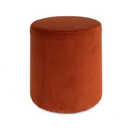 Round Velvet Ottoman – Copper