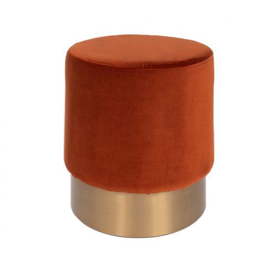 Brass Ottoman – Round Copper