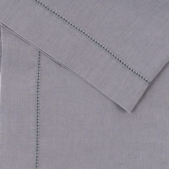 Premium Linen Serviette – Steel Hemstitch