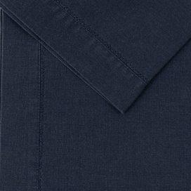 Premium Linen Serviette – Navy Hemstitch