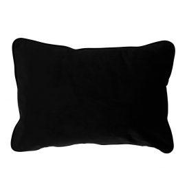 Rectangular Velvet Cushion – Black