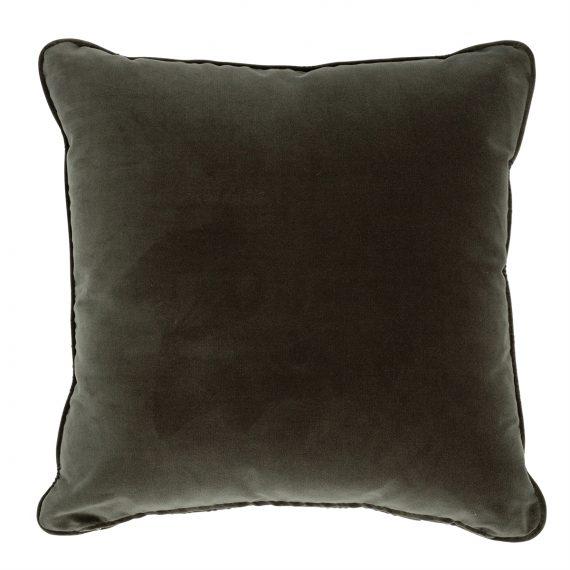 Square Velvet Cushion – Olive Green