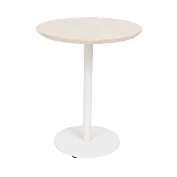 Side Table – Terrazzo Look with White Base