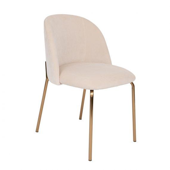 Copenhagen Upholstered Dining Chair – Champagne